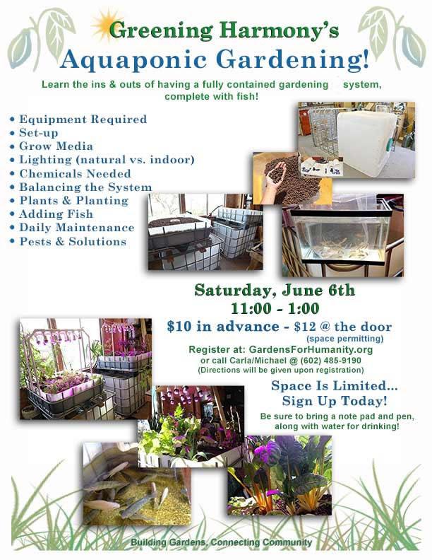 Aquaponic Gardening flyer